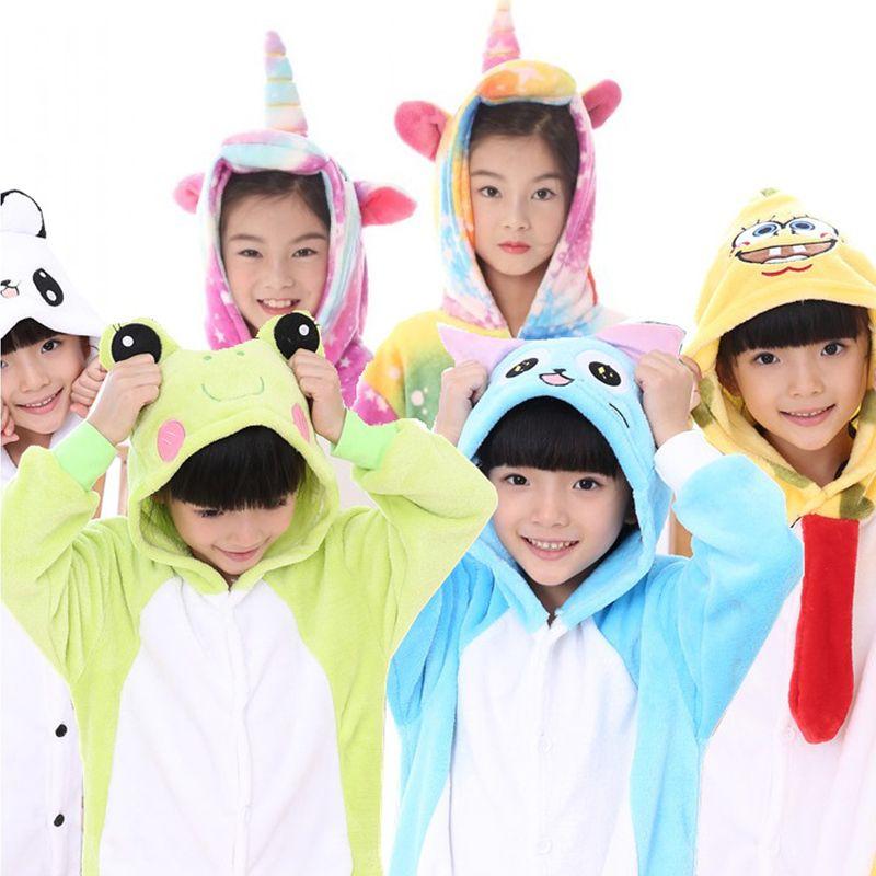 b3a8c1921 Großhandel Mädchen Jungen Pyjamas Sets Einhorn Stich Panda Baby ...
