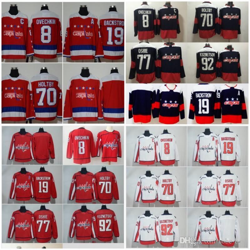 2019 2018 Stadium Series Hockey Washington Capitals 8 Alexander Ovechkin  Jersey 77 TJ Oshie 70 Braden Holtby Evgeny Kuznetsov 2019 Winter Classic  From ... 2cb930f3e