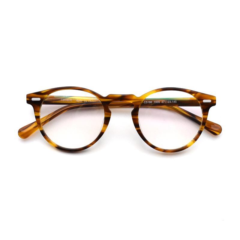 6b3967693b4 2019 Vintage Optical Glasses Frame Gregory Peck Retro Round Eyeglasses For  Men And Women Acetate Eyewear Frames From Htiancai