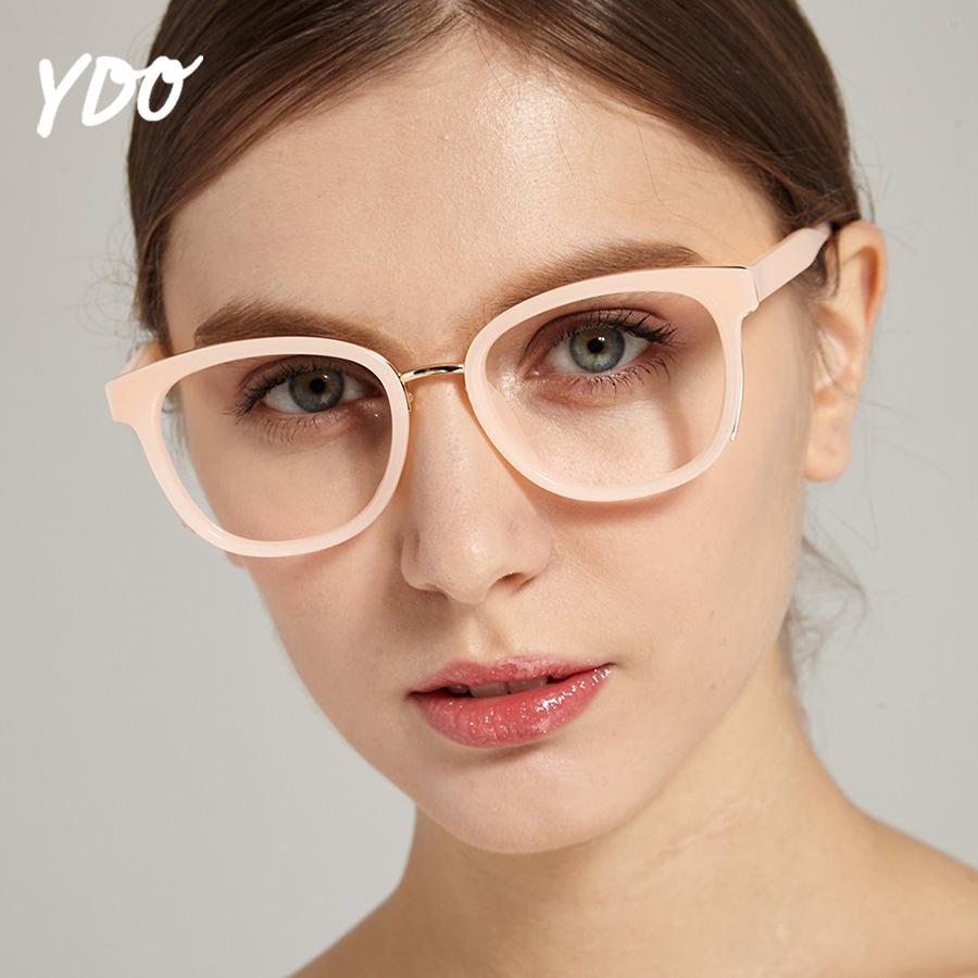 a04758d4910 2019 YDO 2018 New Glasses Frame Women Fashion Transparent Clear Lens ...