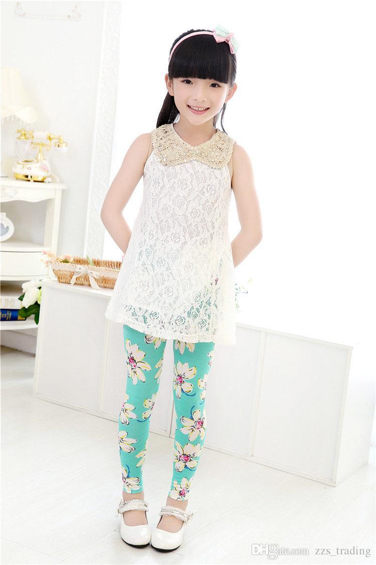 Girls Leggings Brand Children Leggings Spring Summer Autumn Print Color Skinny Kids Baby Leggings for Girls Pants