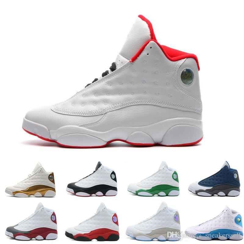 bde4bebc1b17f2 Sale High Quality Shoes 13 XIII 13s Men Basketball Shoes Women Bred Black  Brown White Hologram Flints Grey Outdoor Sports Sneakers Cheap Cool  Basketball ...