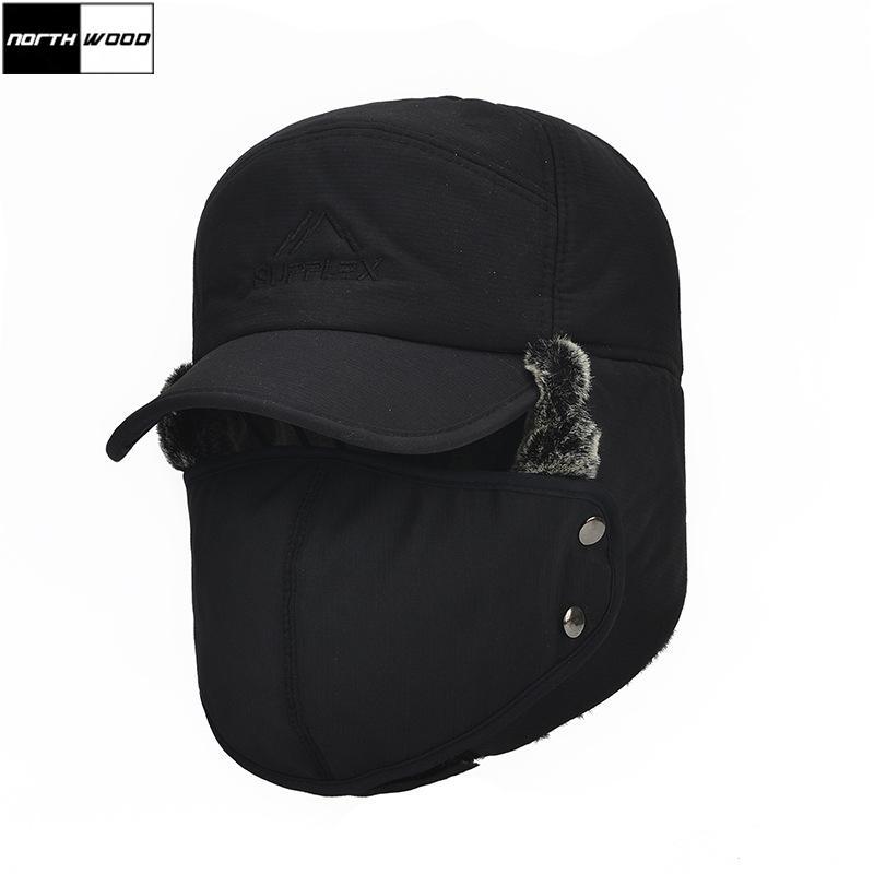 3d64105f9fb 2019 NORTHWOOD Mens Ear Protection Bomber Hats Plus Velvet Aviator Cap  Thicker Winter Hat For Men From Cbaoyu