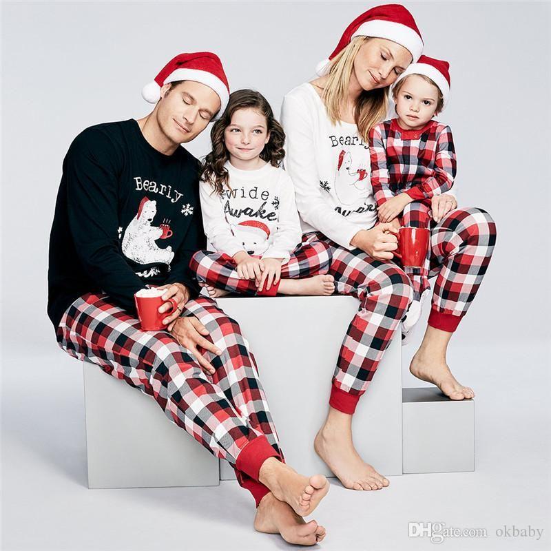 522f335fe5fe Family Pajamas Buffalo Plaid Bearly Awake Pajama Set 100% Pure Cotton For  Mom