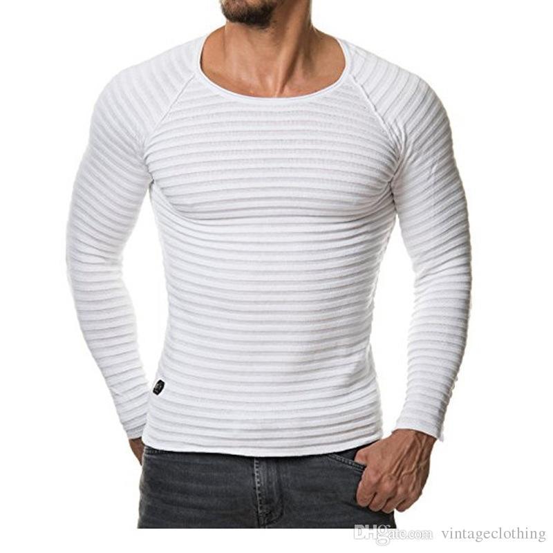 37c67e7cf Designer Mens T Shirt Solid White Black Long Sleeve O Neck Hip Hop Summer Men  Hip Hop Slim Fit T Shirts Humorous Tee Shirts Design And Order T Shirts  From ...