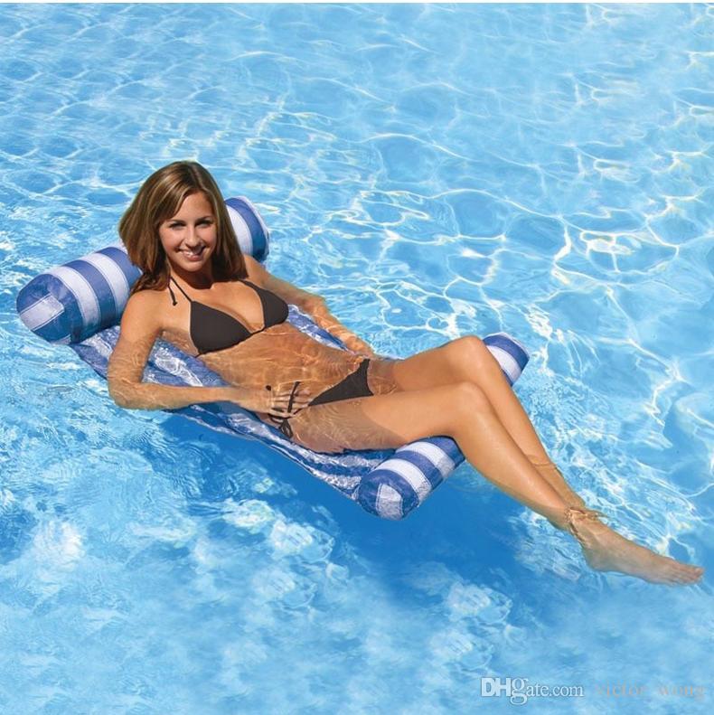 Piscina de verano Inflable Flotante es Hamaca de Agua Salón Silla de Cama Flotador de Piscina Inflable de Verano Cama Flotante