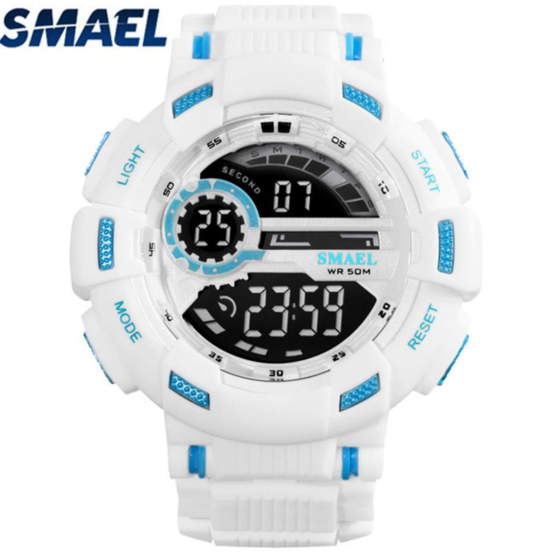 SMAEL Top  Mens Watches Electronic Digital Watch Men LED  5Bar Waterproof Sport Watches relogio masculino