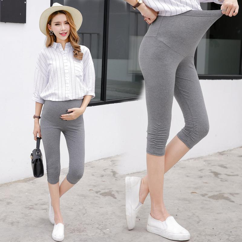 7323e6f1abae3c 2019 2018 New Maternity Clothes Women Leggings Ropa Mujer Solid Cotton  Roupas Femininas Pregnancy Pants Girls Yoga Legging From Askkit, $32.97 |  DHgate.Com