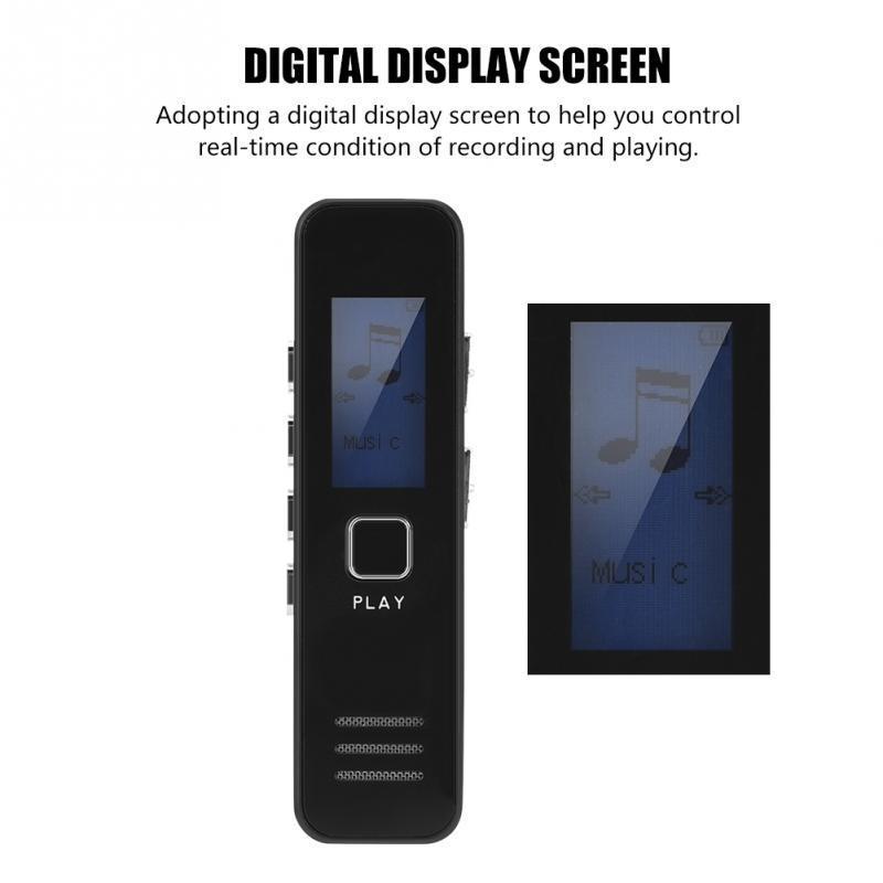Mini 8 Gb Professionelle Sprach Aufnahme Gerät Zeit Display Großen Bildschirm Digital Voice Audio Recorder Diktiergerät Mp3 Player Unterhaltungselektronik