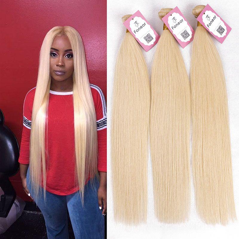 Newest Malaysian Virgin Human Hair Bundles Blonde Straight Hair