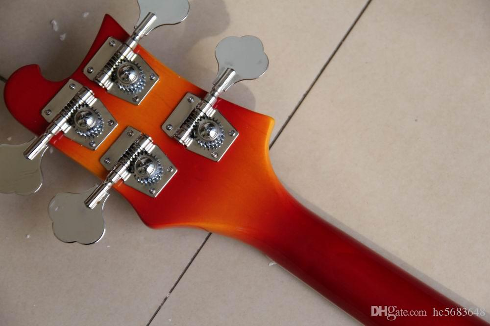 !Wholesale Best Quality Left Handed 4 string 4003 electric bass guitar in Cherry 120218