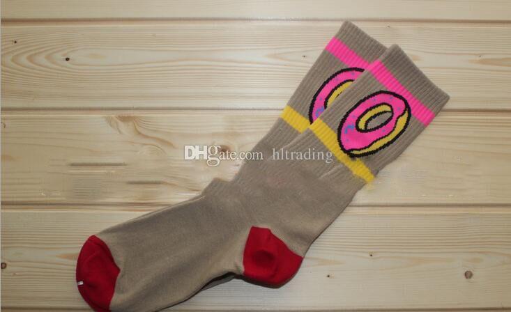Пончики носки хлопок баскетбол спортивные носки пончики печати чулки 2018 новые женщины мужчины большие дети носки 6 цветов C449