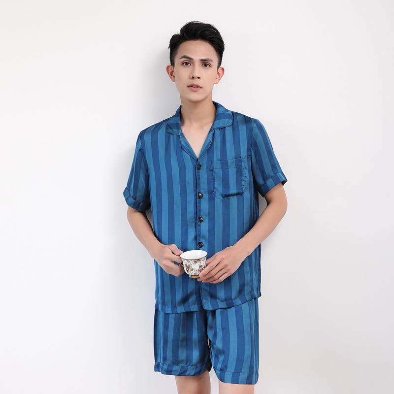 2019 Silk Pajamas For Men Satin Pyjama Shorts Lounge Male Sleepwear Summer  Satin Pajamas Men Korean Style Slim Home Clothes For From Bida Jany a90657f03
