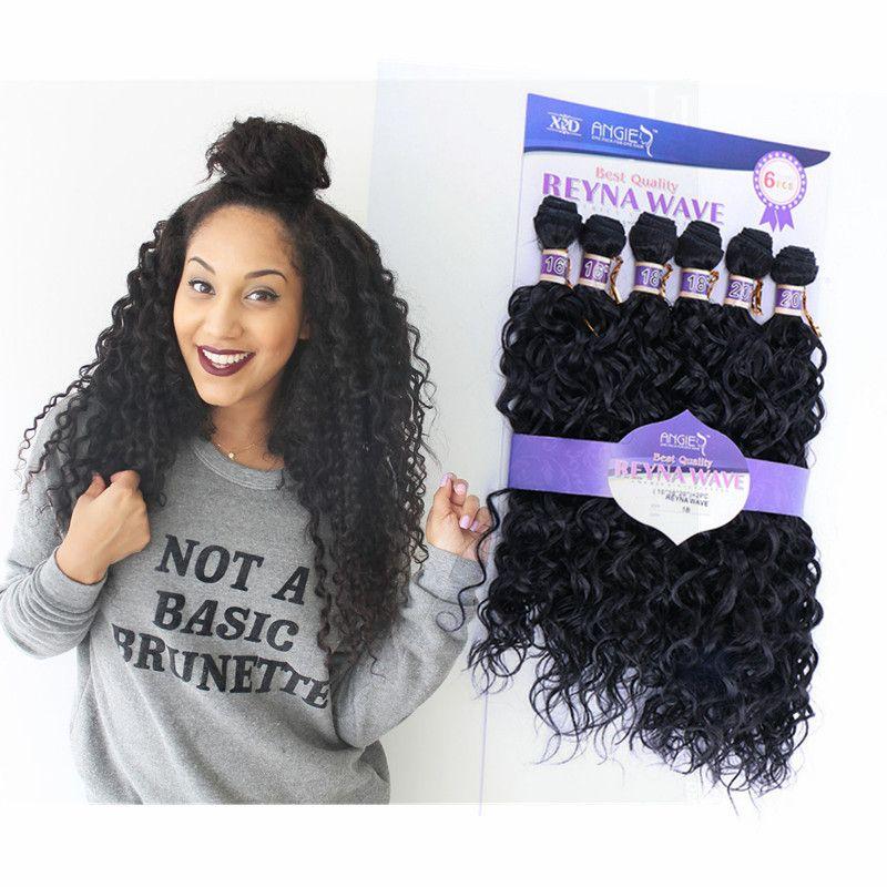 Großhandel Afro Curly Synthetische Haarverlängerung 6 Bundles 16 20