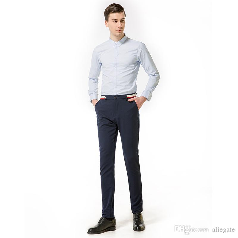 9976dd79d70 2019 Men S Solid Casual Trousers Men S EUR Large Size Comfortable  Fashionable Breathable Teen Fashion Trousers Size 30 38 From Aliegate