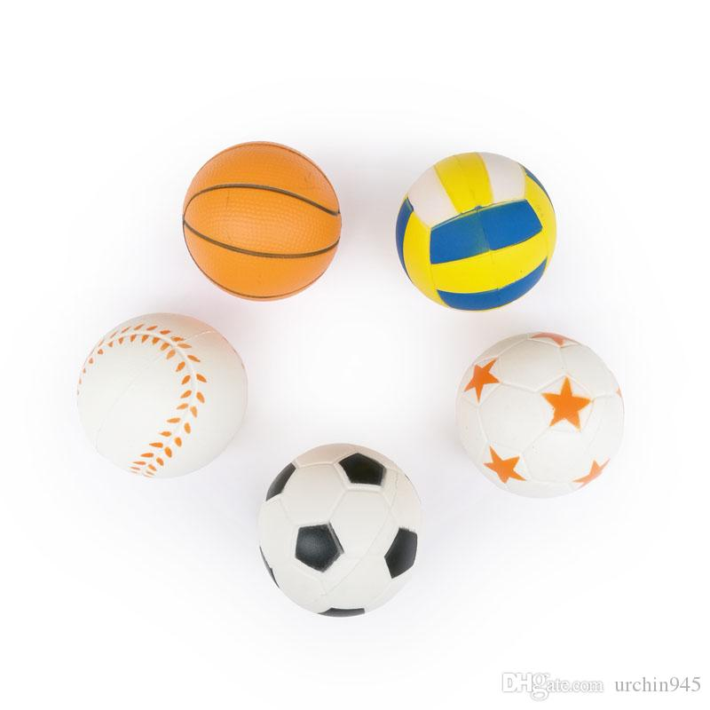 8CM Squishies Ball Toys Squeeze Soft Squishy Slow Rising World Cup Mini Baseball Football Basketball Volleyball Decompression Toy Gifts