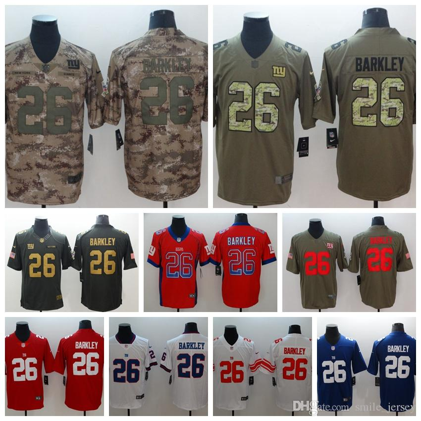 cheaper e9a6b b074e Mens 26 Saquon Barkley New York Jersey Giants Football Jersey 100% Stitched  Embroidery Giants Saquon Barkley Color Rush Football Shirts