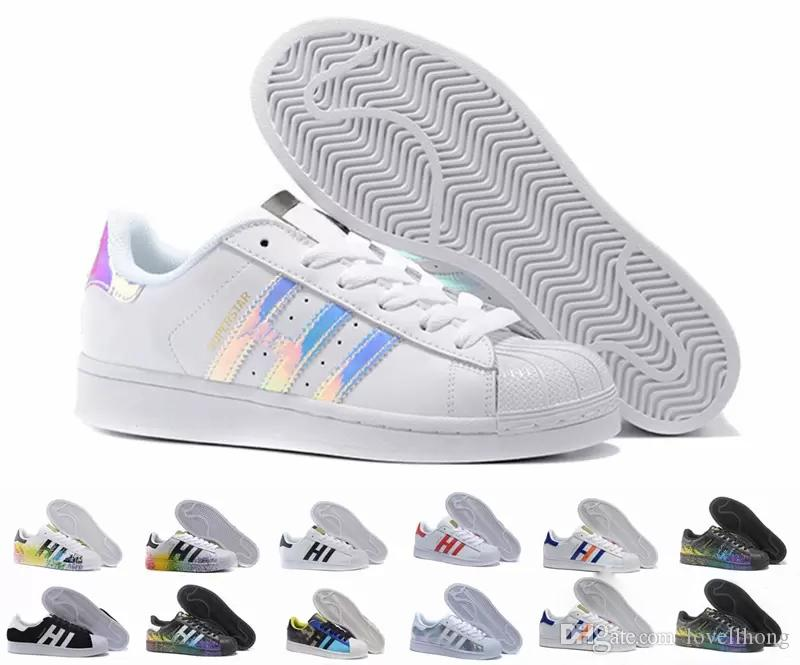 Adidas 2018 Superstar Original Hot Sale Fashion Mens Casual Schuhe  Superstar Smith Stan weibliche flache Schuhe Frauen Zapatillas Deportivas  Mujer ...