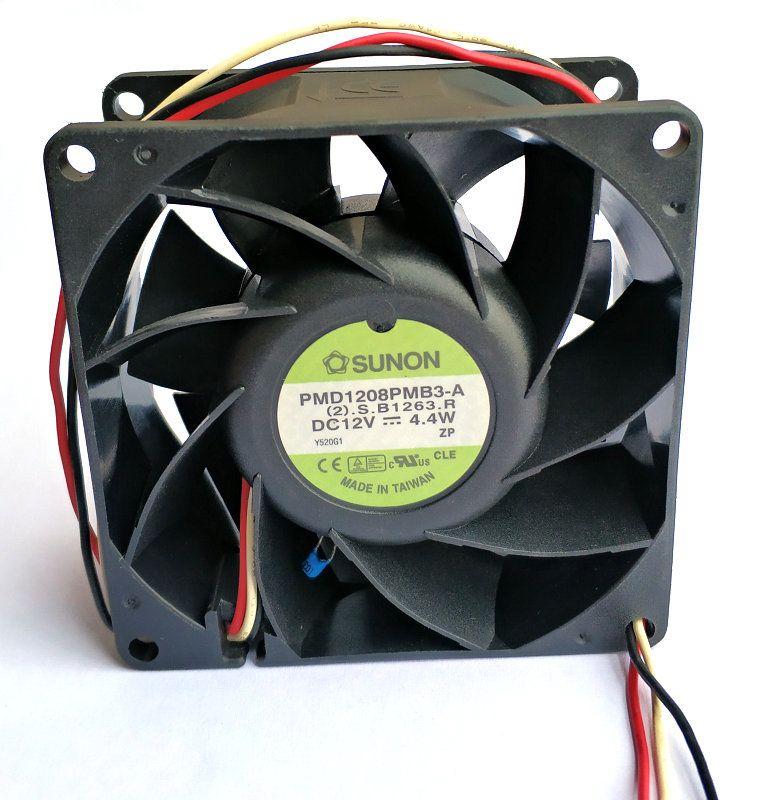 sunon 8038 12V 4.4W PMD1208PMB3-A 3 선식 PSD1208PMB3-A PSD1208PMB2-A PSD1208PMB1-A PMD1208PMB1-A 냉각 팬