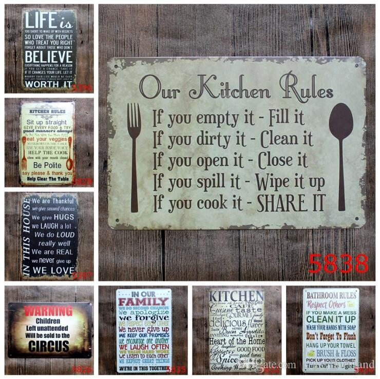 2019 Vintage Metal Tin Signs For Wall Decor Romantic Poetry Iron Paintings  20*30cm Metal Signs Tin Plate Pub Bar Garage Retro Home Decoration From ...