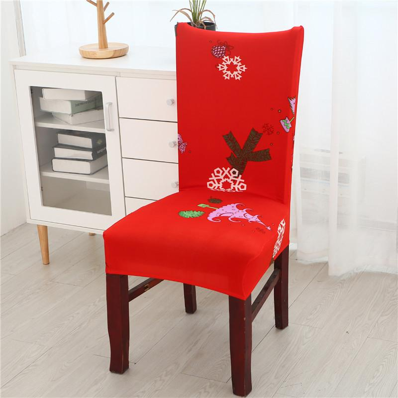 2019 Christmas Chair Covers Home Dining Flower Printed Chair Cover
