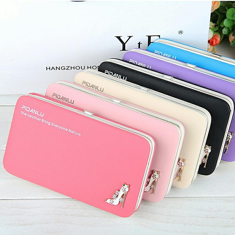 791c0e732e0a YULYYE New Fashion Ladies PU Leather Wallets High Quality Women S Bag  Famous Band Women Classic Girls Coin Purse Clutch Wallet Silver Clutch Cheap  Bags From ...