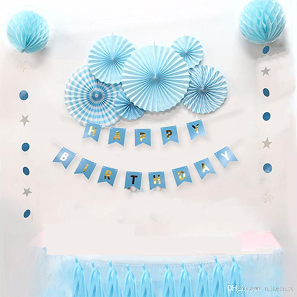 2019 Set Boy And Girl Holiday Decorations Baby Shower Birthdays Party Decoration DIY Kids Decor Blue Pink Theme Birthday Suppier From Ulikeparty