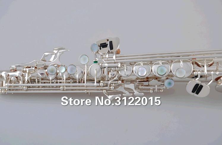 YANAGISAWA S-WO2 S-902 Soprano B B Tubo Em Linha reta Saxofone Da Qualidade Da Marca de Bronze Banhado A Prata Instrumentos Com Bocal Caso