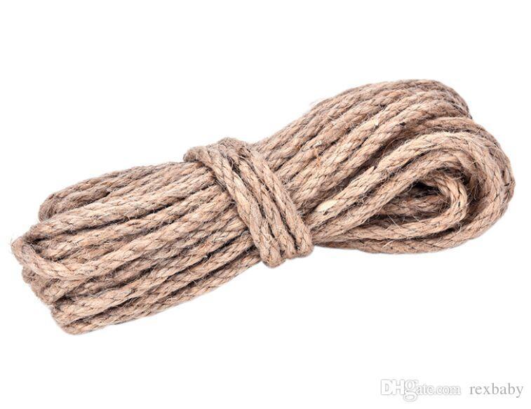d49c90eeadd9 10M*6MM Festival Decor Natural Hemp Rope Jute pet tie String Twine Twisted  Jute rope DIY Party Favor jute cords