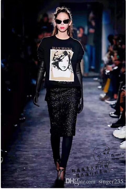 Compre 18ss Europa Lujo Diseño De Londres Maxmara Tee Skateboard De Alta  Calidad Cool T Shirt Hombres Mujeres Ropa De Algodón Casual Camiseta Negro  A  23.11 ... a1fba1f8c2d