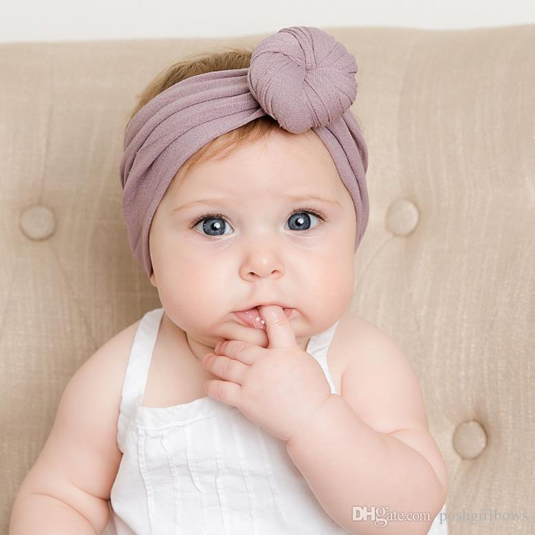 Turban Nylon Headwrap Newborn Top Knot Headband Solid Baby Girl Headbands  Kids Girls Head Band Hair Accessories Summer Toddler Hair Accessories Hair  ... 22e977564e4