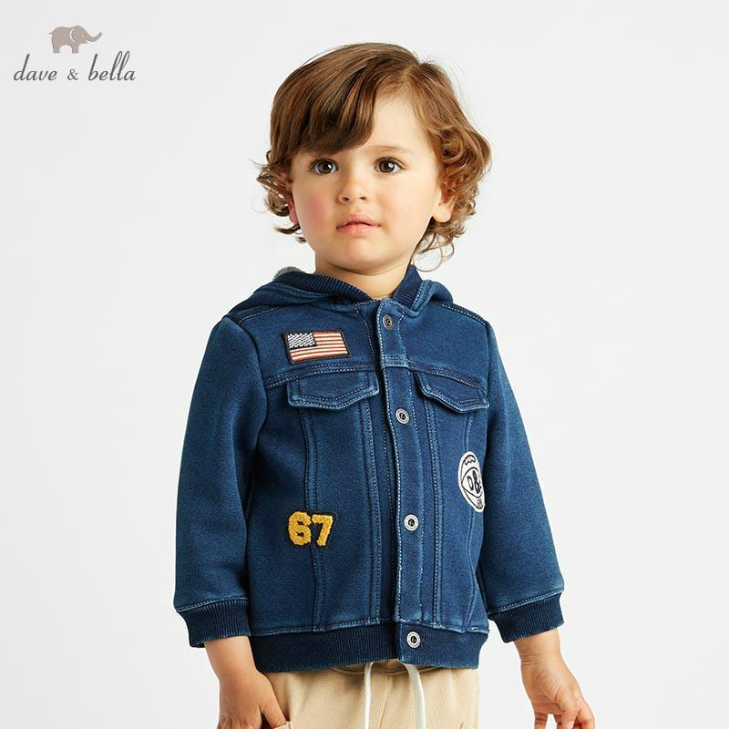 3b3ee69cfbd0 DB8475 Dave Bella Autumn Winter Baby Boys Dark Blue Jacket Children ...