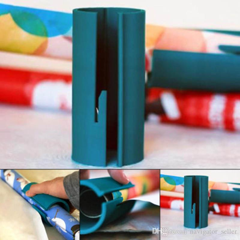 Confezione regalo di Natale Scorrevole Carta da imballaggio Cutter Cilindro Packaging Knife Clearance Wrapping Paper Cutting Tools Making Cuts 3 Colors