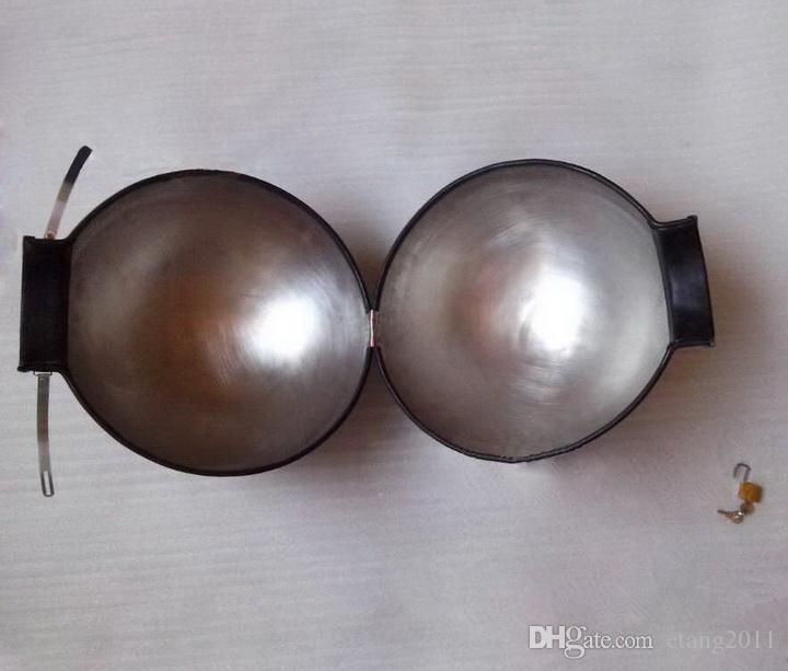 2018 BDSM Sm giocattoli del sesso Bondage Game di lusso in acciaio inox schiavo casco chiuso Lron chiusura colletto a specchio lucidato collo Rin