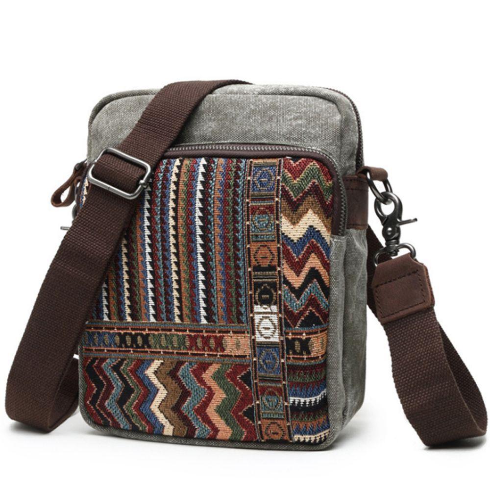 6fe4638c3 Fashion National Style Canvas Bags Hand Made Men'S Single Shoulder Bag  Multi Function Crossbody Bag Large Capacity Women Satchel Satchel Bags  Cheap Purses ...