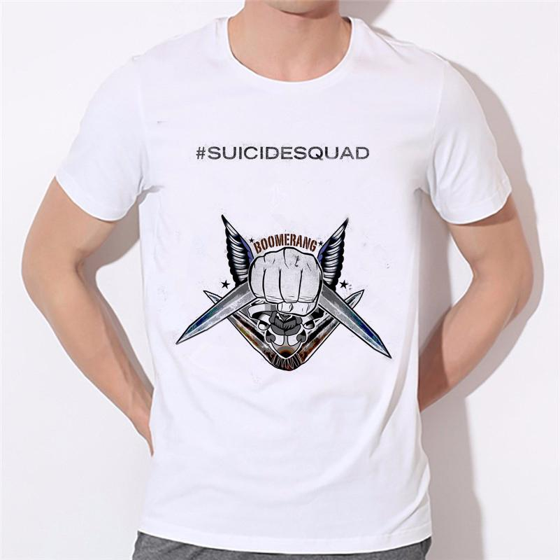 f41912e8 SUICIDE SQUAD Fashion Harley Quinn And The Joker Printed Men T Shirt Short  Sleeve Casual T Shirt Hipster Tops W27 11# Coolest Tee Shirts Cool T Shirts  ...