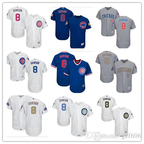 d487fe08 2019 Custom Men'S Women Youth Majestic Chicago Cubs Jersey #8 Andre Dawson  Blue Grey White Kids Girls Baseball Jerseys From Gzf606, $16.5 | DHgate.Com