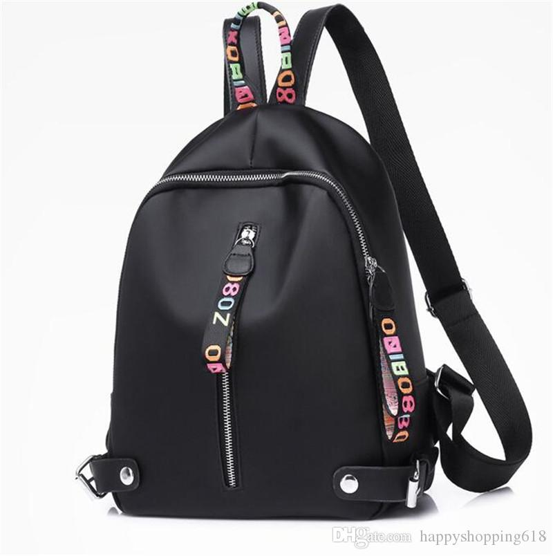 d7aef352151 Cheap 2018 fashion women casual nylon backpack brand girl handbag backpacks  school bags Crossbody bag outdoor travel Climbing High capacity