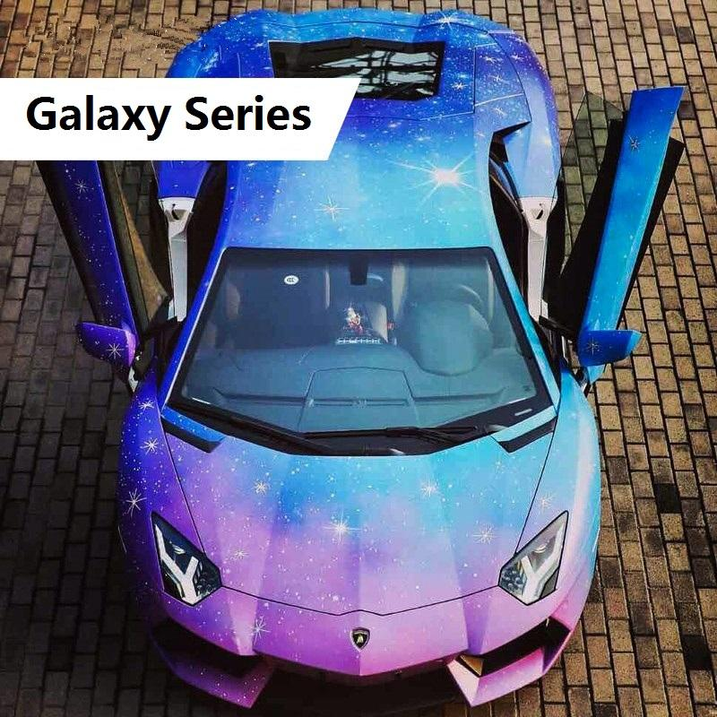 50 150 Beautiful Galaxy Painting Car Body Film Pvc Starry Sky Vinyl
