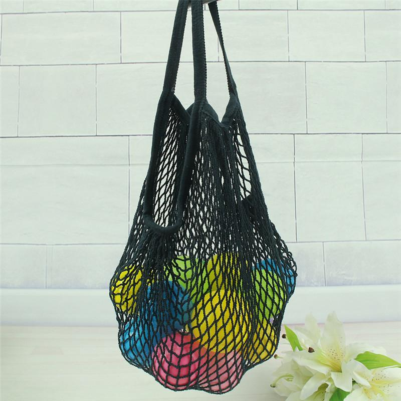 Multifuction Fruits Vegetable Foldable Portable Shopping Bag String Cotton Mesh Pouch For Sundries Juice Storage Bags Hot Sale 14 colors