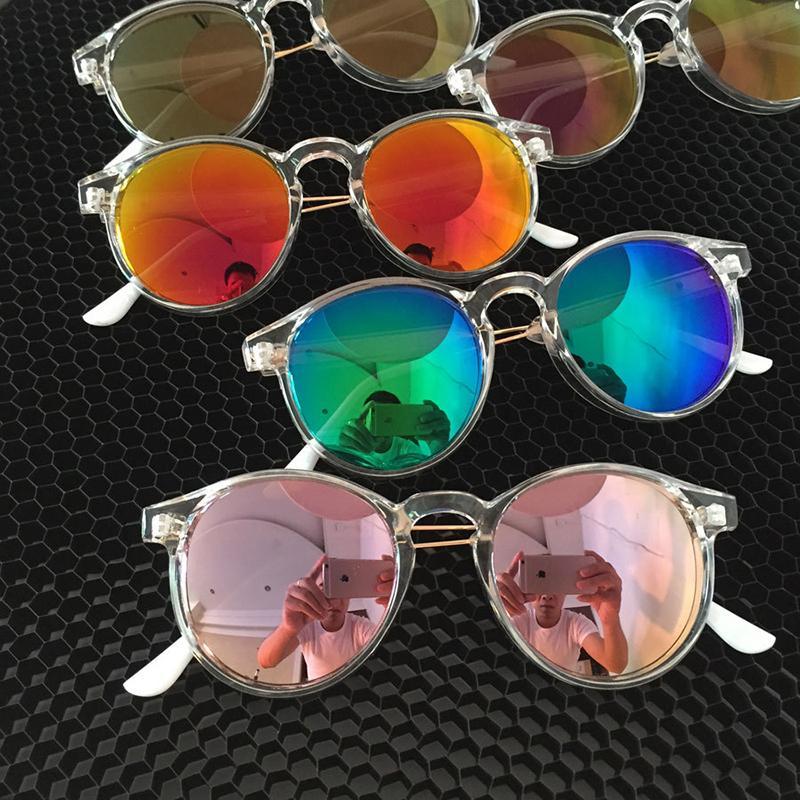0443ebbe3f7cb Lucky Lion Sunglasses Women Transparent Frame Anti UV Sun Glasses Flash  Mirror Sunglass Female Shades Sunglases Oculos Running Sunglasses  Sunglasses Case ...