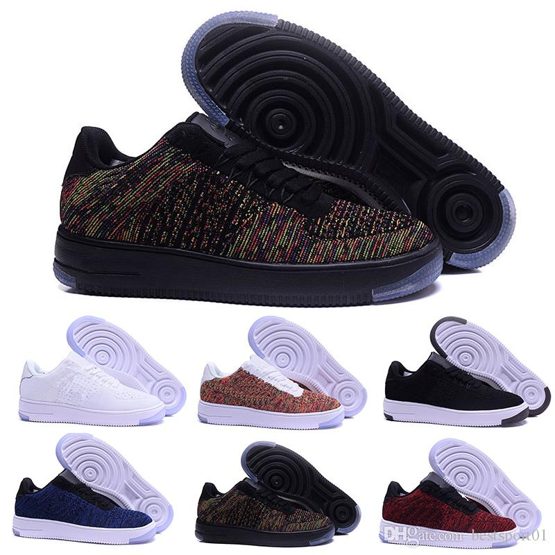 detailed look 3270d c166f Acquista Moda Uomo Scarpe Low 1 One AF1 One 1 Uomo Donna Cina Casual Scarpe  Fly Designer Royaums Tipo Breathe Skate Knit Femme Homme A  65.99 Dal ...
