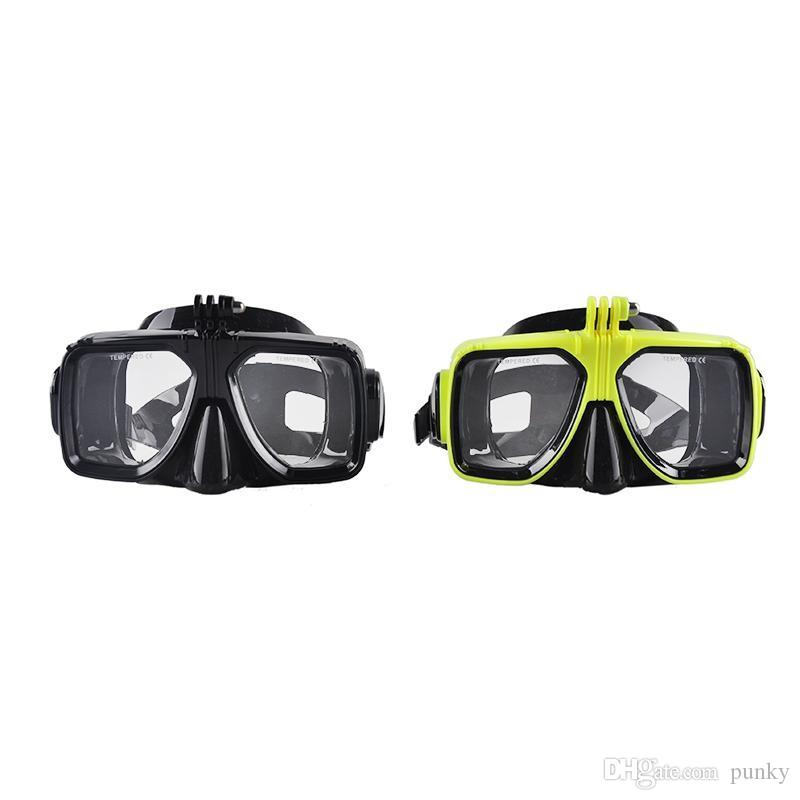 Tauchmaske Brille Soft Liquid Silicon Tauchmaske mit klarem gehärtetem Glas Schnorcheln Schnorchelmaske 4 Farben 100St
