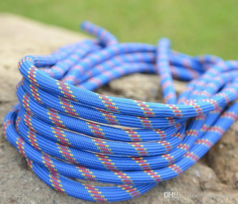 Safety Polyester Fiber Climbing Ropes Braided Wear Resistant Parachute Rope For Outdoor Camping Equipment Top Quality 2 7xd B