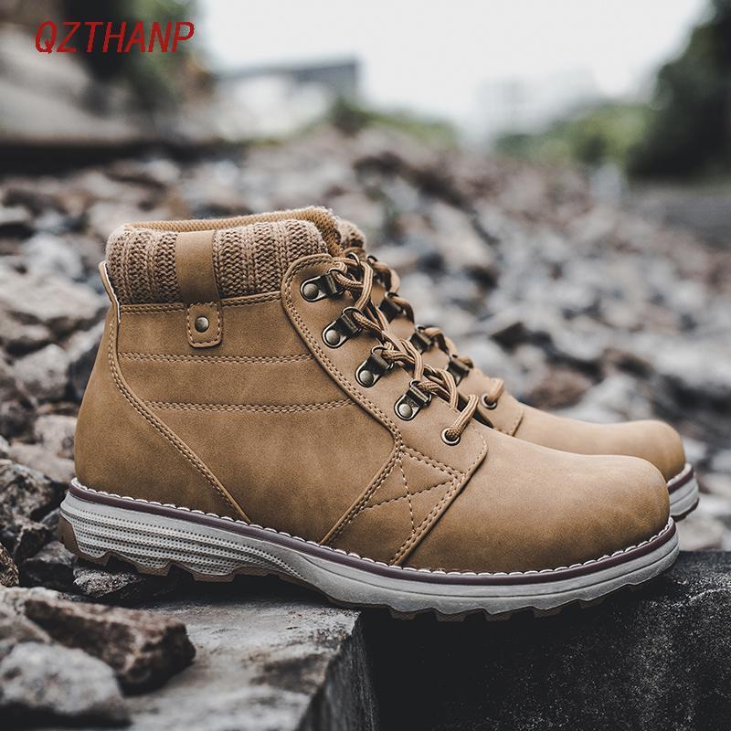 38ba262adfb Compre 2018 Invierno Hombre Botas Tenis Botas Hombre Zapatos De Seguridad Para  Hombre Zapatos De Hombre Casual Buty Hombre Zapatillas De Deporte De Lujo  ...