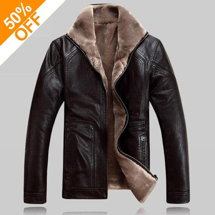 half off 64770 a7051 Winter warme Motorrad Lederjacke Herren Casual Brand Jacke Luxus Fell Schaf  Leder Herren Pelz Oberbekleidung Design Plus