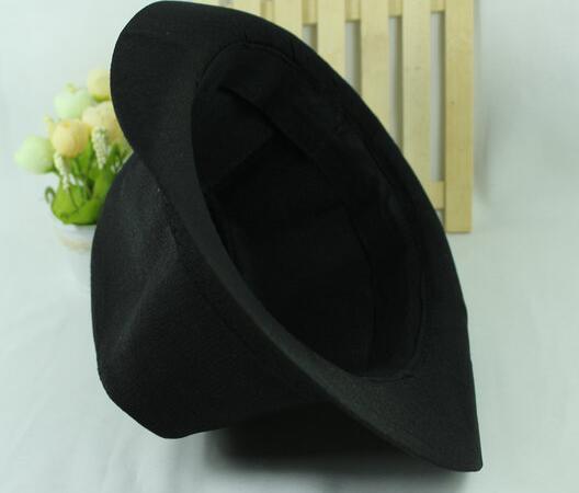 Fashion Jazz Hat Curly Floppy for Women Men Brim British Hip Hop Fedora Hat Cap Unisex Black Top Quality DHL