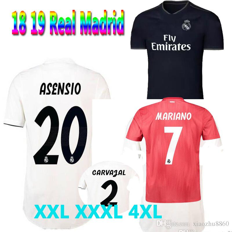 2019 XXL XXXL 4XL 2018 2019 Adult Real Madrid Large Size Soccer Jerseys 18  19 RONALDO ASENSIO BALE RAMOS ISCO MODRIC Football ShirtS Thailand From ... 0c6f70e9c