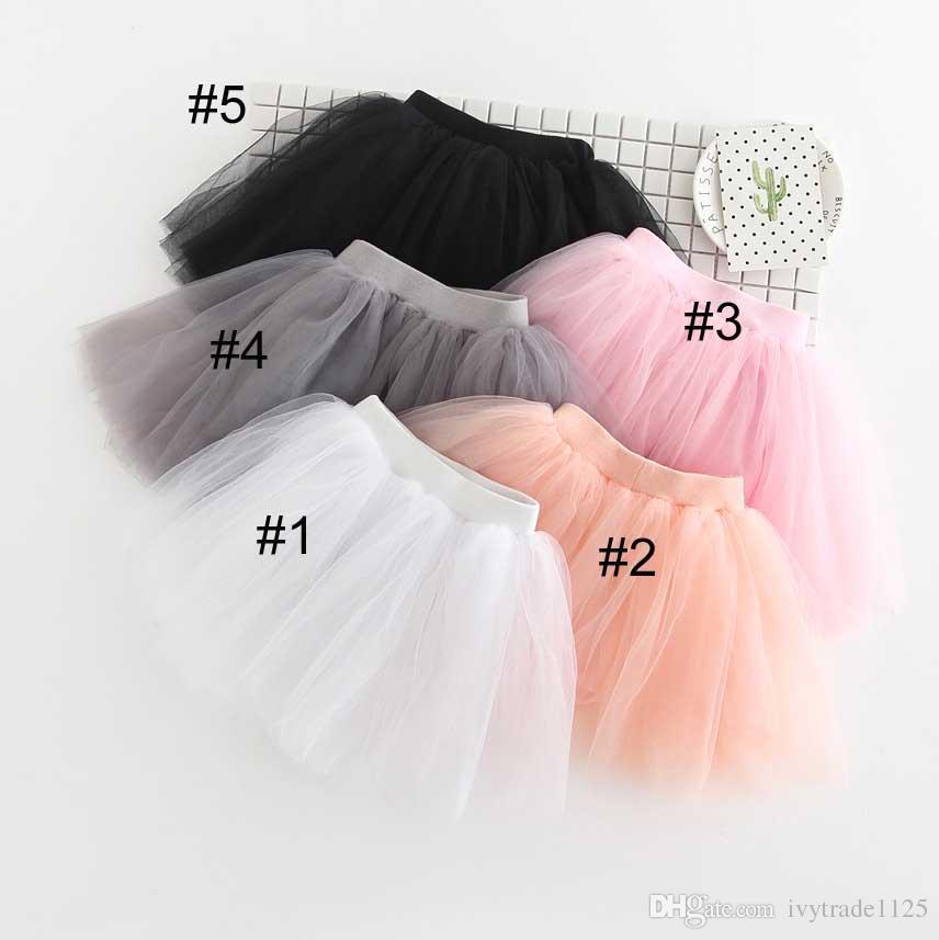 1ffffccd1 5 colores Cuatro faldas tutu de todos los recién llegados de todos los  partidos linda chica Verano color sólido princesa falda envío gratis