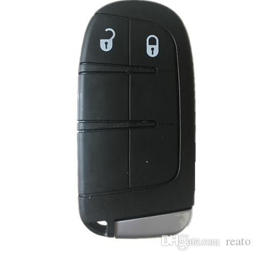 Novo Keyless Caso Remoto Chave Inteligente para Dodge Journey 2011-2015 2 Botões + Blob chave shell fob para Chrysler para Jeep